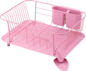 RISU Dish Rack Steel Pink