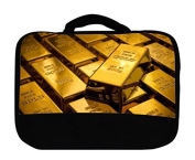 Gold Bars Canvas Lunch Bag by Demon Decal