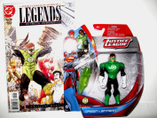 "Green Lantern Gift Pack !! EXCLUSIVE Justice League Action Figure & COLLECTIBLE DC Comic Book "" Justice League Of America Legends Of The Universe Critical Mass"" Issue #12 January 2009"