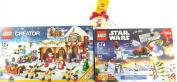 block Christmas Bundle Advent Caledar Star Wars #75097 Santa's Workshop #10245 and Santa Holiday Bauble #850850