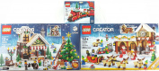 block Christmas Bundle Santa Workshop #10245 Winter Toy Shop #10249 and Christmas Train #40138