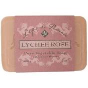 2 PACK Epi de Provence Lychee Rose Shea Butter Soap, 200 Gramme