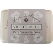 L'epi de Provence Triple Milled Violet Moss Shea Butter Vegetable Soaps from France 200g