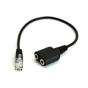 MXtechnic RJ9 To Dual 3.5mm headset Adapter Cable