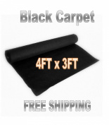 1 Yard x 120cm W BLACK POLYMAT Speaker Box Enclosure Cabinet Trunk Liner Carpet