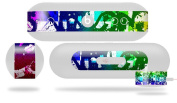 Rainbow Graffiti Decal Style Skin - fits Beats Pill Plus