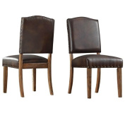 2-Piece Quincy Nailhead Upholstered Dining Side Chairs