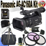 Panasonic AG-AC160A AVCCAM HD Handheld Camcorder 16GB Package