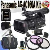 Panasonic AG-AC160A AVCCAM HD Handheld Camcorder 32GB Package