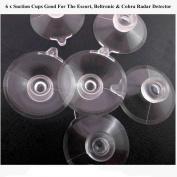 6 Pcs.CLEAR Suction Cups For Beltronics, Escort and Cobra Radar Detectors
