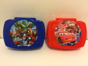 Set of 2 - Kids Lunch Boxes - Avenger and Cars