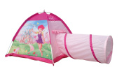 Fairy Dome Tent Play Tunnel 2pc Princess Play House Girls Pink Castle by POCO DIVO