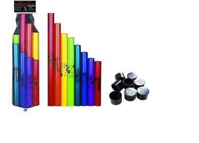 Boomwhackers® C Major Diatonic Scale Set with Octavator Caps 8-Pack