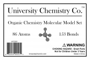 University Chemistry Co. - Molecular Model Set - 86 Atoms & 153 Bonds (239 Total Pieces) - Organic Chemistry Orgo Model Kit