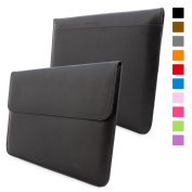 Snugg Macbook 30cm Case - Leather Sleeve Case with Lifetime Guarantee (Black) for Apple MacBook 12 with Retina