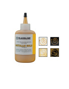 Metallic Gold GLASSLINE FUSING PAINT PEN 60ml Bottle