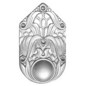 Stained Glass Jewels - 50x30mm Medallion - Crystal