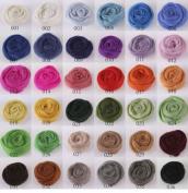 Lot of 36 colours Merino Wool Fibre Roving For Needle Felting Hand Spinning BIN