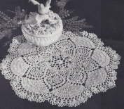 Vintage Crochet PATTERN to make - Pineapple Dove Tail Fan Doily. NOT a finished item. This is a pattern and/or instructions to make the item only.