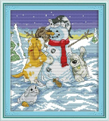 Happy Forever Cross Stitch Cartoon, Christmas partners