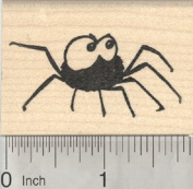 Halloween Spider Rubber Stamp, Cute Creepy
