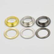 """50 sets Grommets Eyelets 11/16"""" 7/8"""" 1"""" 17.5mm 21.5mm 26.2mm for Clothes Self Backing Nickle Gold Black"""