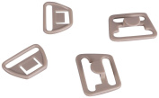 "Tan Plastic Nursing and Maternity Clips - 3/4"" or 18mm - 10 Sets"