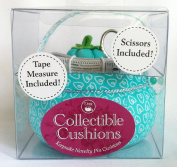 Dritz Collectible Pin Cushion with Scissors and Tape Measure