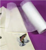 Fusible No-show Polymesh Plus Cut Away Embroidery Stabiliser Backing Iron on - 30cm X 10yd