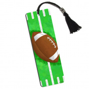 Football Fan Printed Bookmark with Tassel