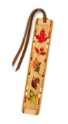 Fall Leaves - Autumn - Arboretum Engraved Colour Wooden Bookmark with Tassel