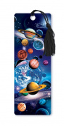 Dimension 9 3D Lenticular Bookmark with Tassel, Planets in Space