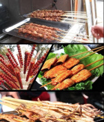 "100 pcs 13.8"" Wooden Bamboo Skewers sticks BBQ Kebabs"