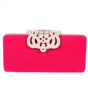 Fawziya® Crown Velvet Clutch Purse Women Clutch Evening Bags