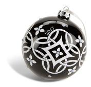 Limited Edition Vera Bradley Christmas Ornament in Black White Concerto
