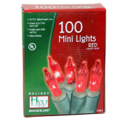 Holiday Wonderland 100-Count Red Christmas Light Set