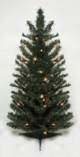 0.9m Pre-Lit Canadian Pine Artificial Christmas Tree - Clear Lights