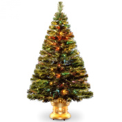 National Tree Fibre Optic Radiance Fireworks Tree with Gold Base, 120cm