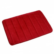 Ancdream 43cm x 60cm Non-Slip Back Rug Soft Bathroom Carpet Memory Foam Bath Mat Floor Carpet Red