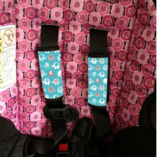 Baby Seat Strap Covers Blue Elephants Sherrys Stock TM