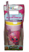 Snackeez Shopkins 2 in 1 Snack and Drink Cup (Pack of One Cup, Colours and Designs Vary)
