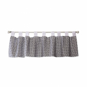 Trend Lab Grey Greek Key Window Valance