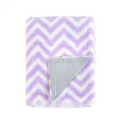 Tadpoles Chevron Print Double Layer Blanket, Lilac