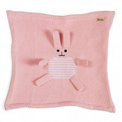 Estella Hand Knitted Organic Cotton Baby Security Blanket, Pink Bunny
