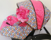 Infant Carseat Canopy Cover 3 Pc Whole Caboodle Baby Car Seat Cover Kit Cotton Football C060700