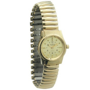REIZEN Braille Gold Womens Watch with Exp. Band