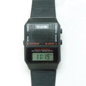 Talking Wrist Watch-English Square Face - World Wide Shipping
