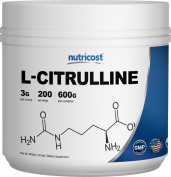 Nutricost L-Citrulline (600 Grammes) - Pure L-Citrulline Powder, 3000mg Per Serving - L-Citrulline Malate