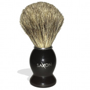 The House of Saxon 100% Badger Brush with Black Handle for Best Shave!