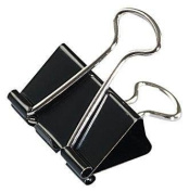 Universal Medium Binder Clips, Steel Wire, 1.6cm Cap., 2.5cm - 0.6cm Wide-Black/Silver, 12 ct, 2 pk